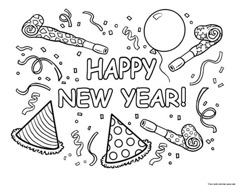 happy new year coloring pages for toddlers printable happy new year coloring pages for kidsfree