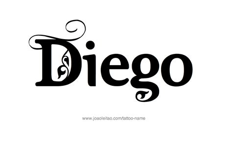 diego name tattoo designs
