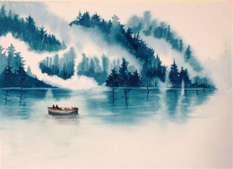 what color is water monochromatic watercolor landscape search c r e