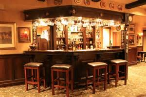 Home Pub Decor English Pub Style Basement Traditional Basement