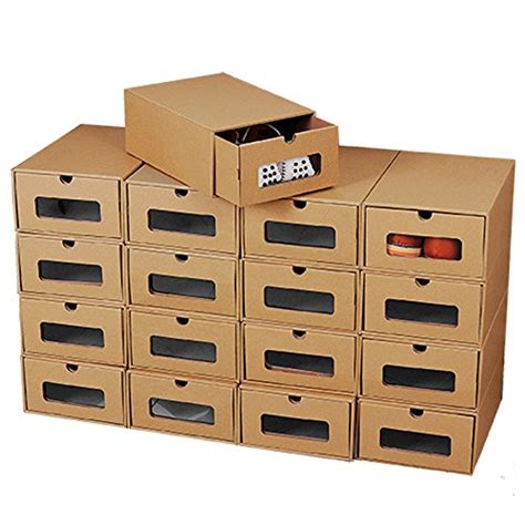 Cardboard Drawer Storage by 10 Foldable Cardboard Shoe Boxes Organiser Drawer