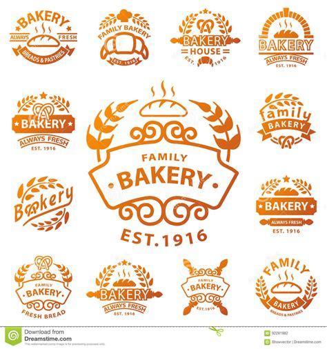 vintage classic design label elements bakery badge icon fashion modern style wheat vector retro