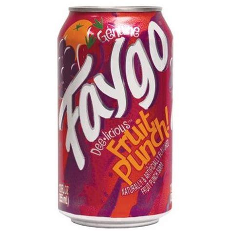 fruit punch soda faygo fruit punch 12oz 355ml can american fizz