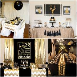and gold decorations black and gold table decorations deco