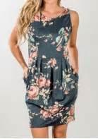 29797 Summer Crop Top floral draped sleeveless mini dress bellelily