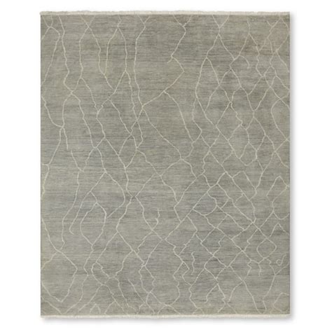 Williams Sonoma Rug by Mountain Fog Knotted Rug Grey Williams Sonoma