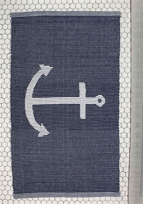Nautical Bathroom Rugs 25 Best Ideas About Nautical Bath Mats On Cotton Rugs Navy Blue Rugs And Cotton Mats