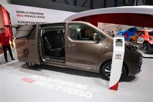 Driver Comfort New Toyota Proace Verso Mpv Detailed Offers Seating For