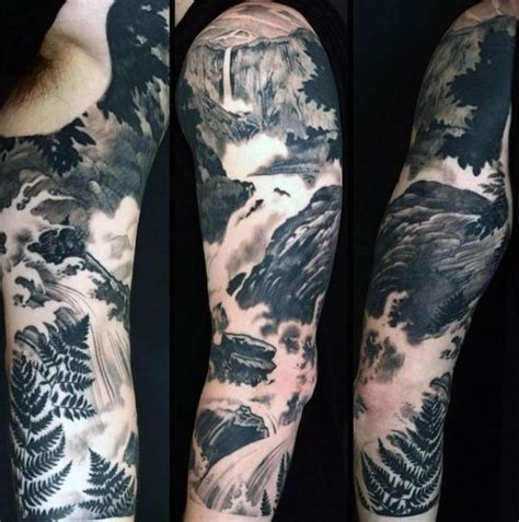 flowing tattoo designs sleeve flowing water river for cool