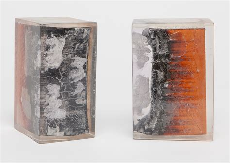 Lamp Designer burnt wood and resin bookends mecox gardens