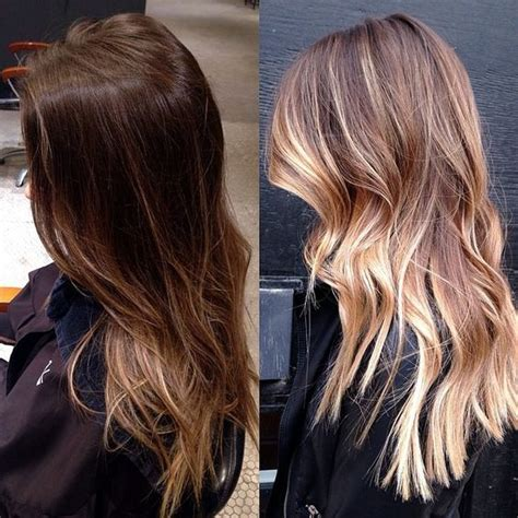 balayage highlights mid length hair before and after style google and dark on pinterest