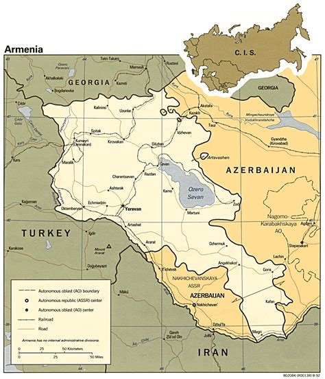 map of armenia armenia maps perry casta 241 eda map collection ut library