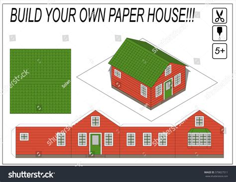 paper house template model house template beautiful paper house template