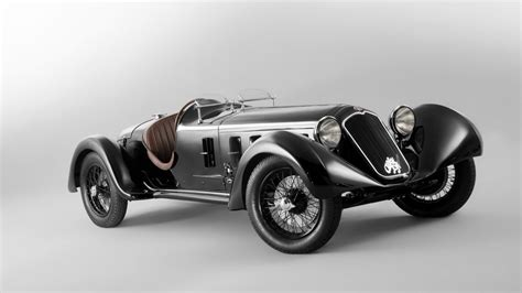 Black Vintage Car Convertible Alfa Romeo 6c Ss