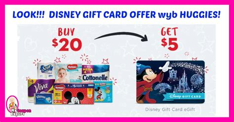 Disney Gift Card Deal - disney gift card offer wyb huggies diapers 183