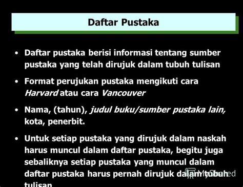format tulisan daftar pustaka презентация на тему quot sistematika penulisan tugas pp kota