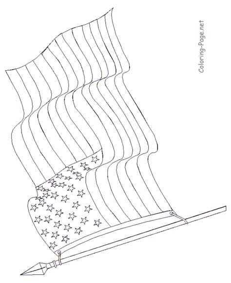 pages american flag american flag printable page