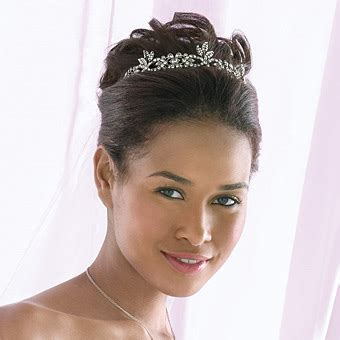 Black Wedding Hairstyles With Tiara by Bridal Hair On 26 Pins