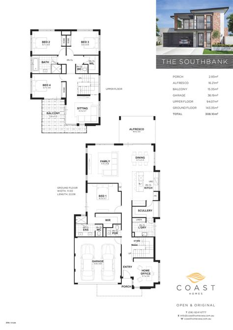 southbank floor plan 2 storey home builders perth the southbank coast homes