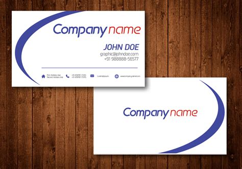 business card vector template download free vector art
