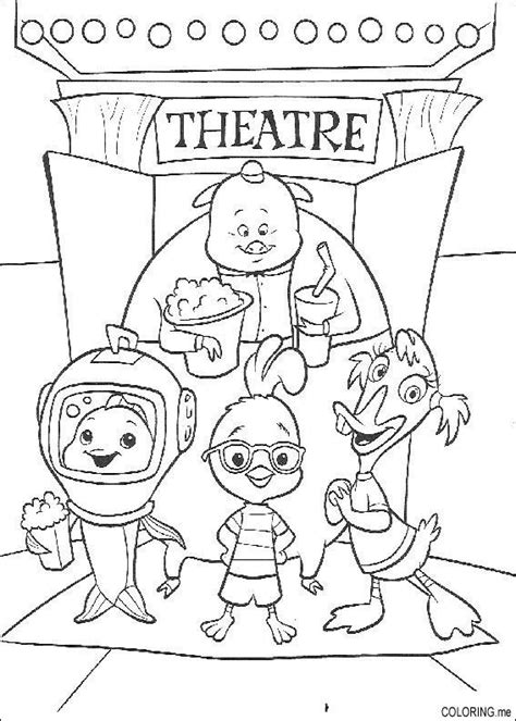 coloring page chicken little theater coloring me