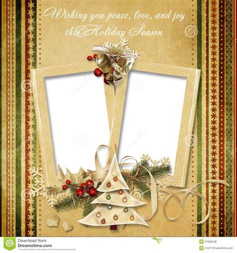 christmas vintage greeting frame   wishes royalty  stock  image