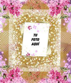decorar tus fotos online marco con muchas flores para decorar tus fotos online