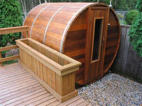 Backyard Sauna by Sauna Photo Gallary Cedarbarrelsaunas