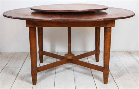 Dining Table With Lazy Susan Distinct Rustic Dining Table With Built In Lazy Susan At 1stdibs