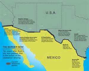 map of mexican border fence pictures to pin on
