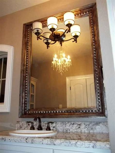 framing bathroom mirrors with crown molding mirror molding as bathroom decoration element interior