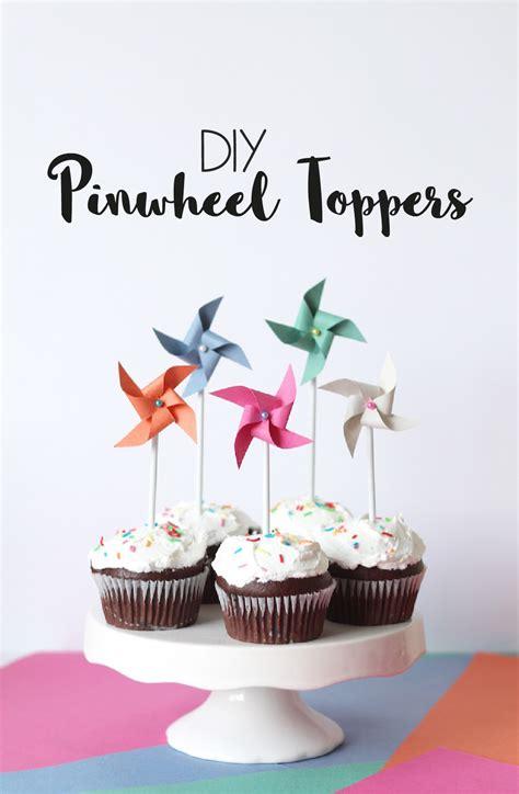 diy cupcake decorations diy paper pinwheel cupcake toppers tutorial