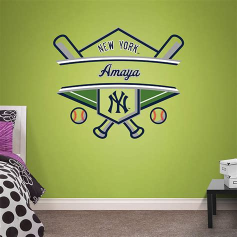 yankees wall decor new york yankees personalized name wall decal shop