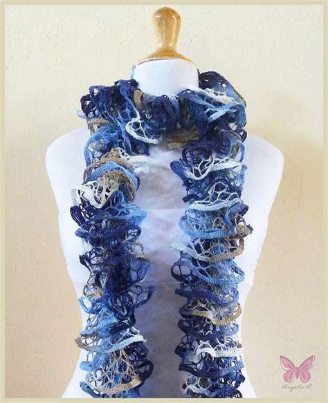 knitting pattern ruffle scarf ruffled spiral scarf pattern scarf faded jeans ruffled