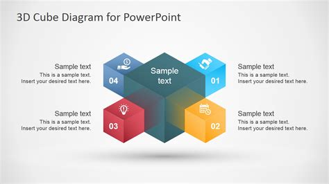 3d Cube Diagram Template For Powerpoint Slidemodel Powerpoint Cube Template