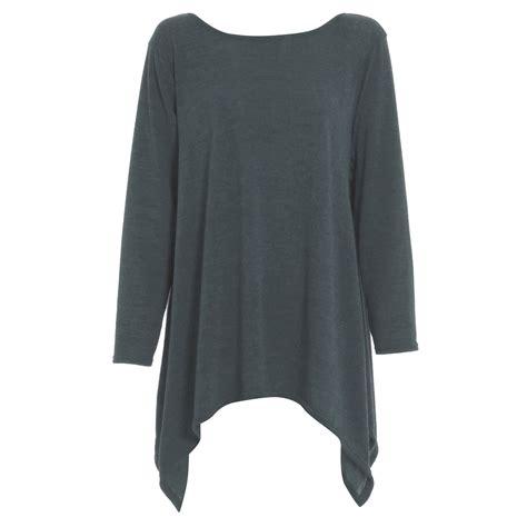 jumper swing womens ladies knitwear knitted long sleeves hanky hem