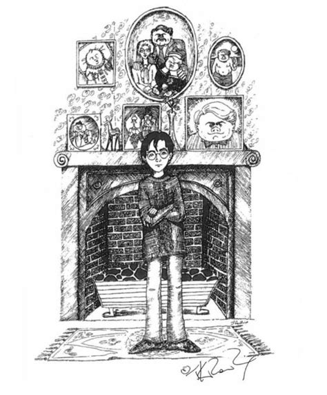 J K Rowling Sketches by Jk Rowling Harry Potter Sketches Released On Pottermore