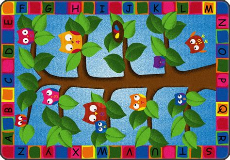 Owl Rug For Classroom all alphabet owls carpet by flagship carpets options classroom rugs carpets worthington direct