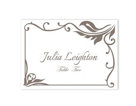 Downloadable Wedding Place Card Templates by Place Cards Wedding Place Card Template Diy Editable