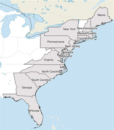 map of the eastern coast of the united states how many states are along the east and west coasts