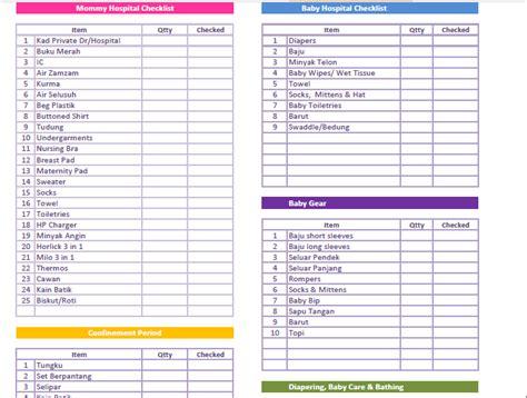 Wedding Checklist Melayu by Newborn Baby Checklist Melayu Style Just So You