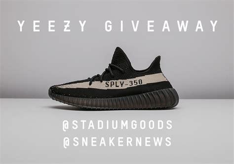 Yeezy Giveaway - sneaker news stadium goods yeezy giveaway sneakernews com