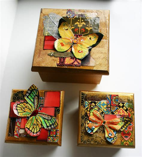 decorate box decorated butterfly wood boxes set of 3 decorative wood