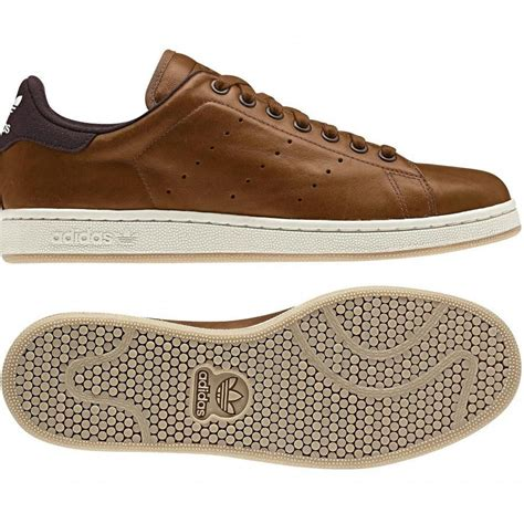Casual Adidas Smith Brown adidas stan smith pc wool grey brown sneakers adidas