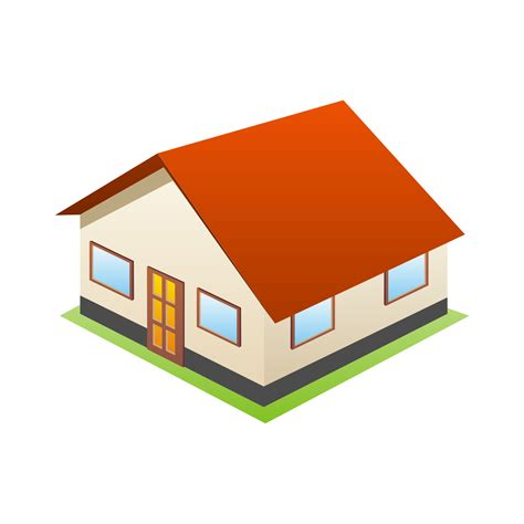 3d house vector for free use 3d house icon