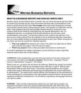 Business Writing Templates 8 Business Report Templates Free Samples Examples