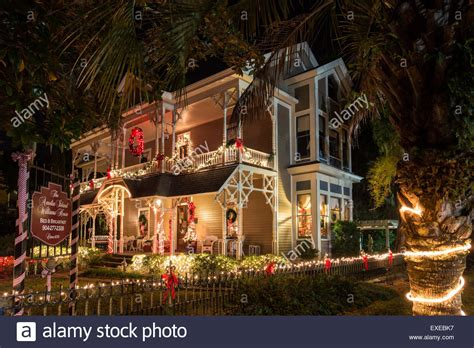 fernandina beach bed and breakfast christmas at the williams house bed and breakfast amelia island stock photo royalty