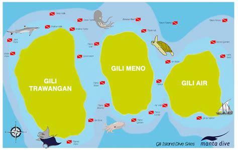 manta dive gili air gili islands dive clickable map manta dive resort