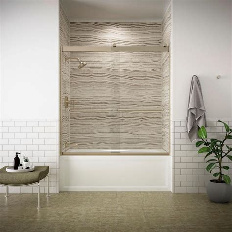 Kohler Levity Tub Door by Kohler Levity 59 In X 62 In Semi Frameless Sliding Tub