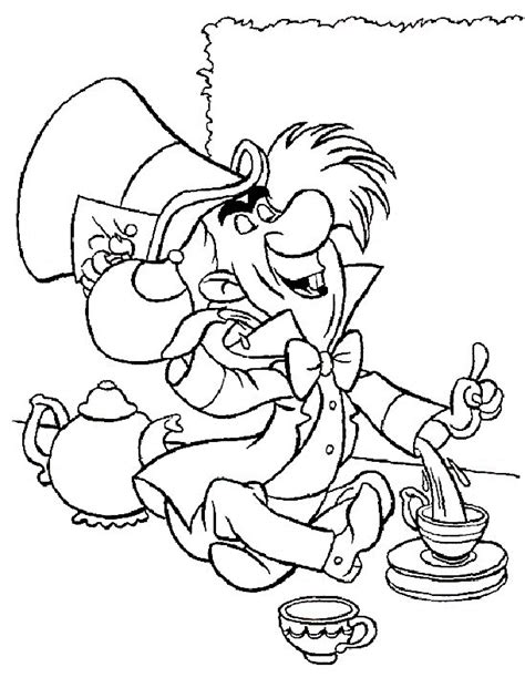 alice and wonderland coloring pages coloring home